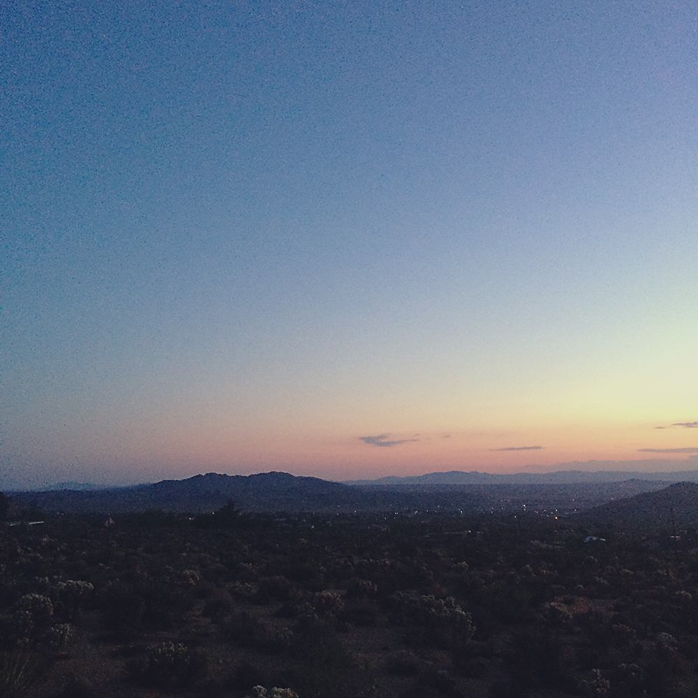 Dusk in the desert was my favourite time of day.