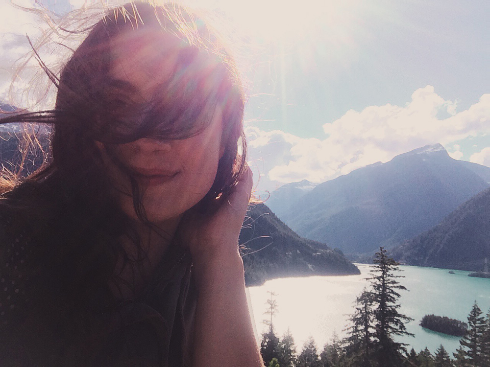 Windswept portraits at Diablo Lake.