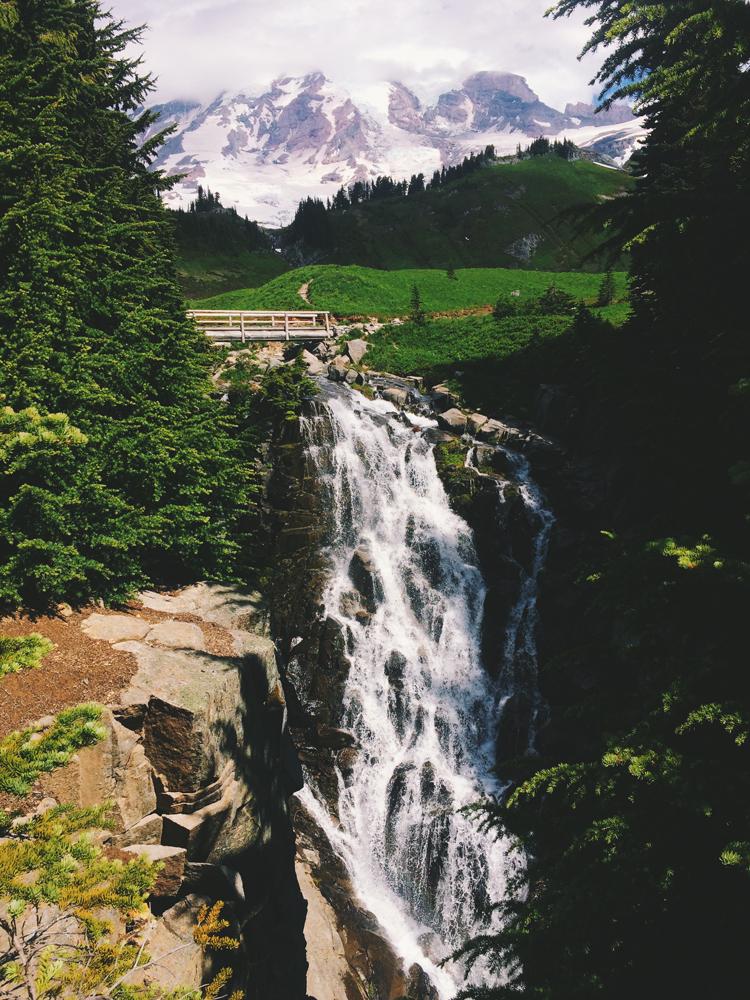 Myrtle Falls, Mt Rainier National Park.