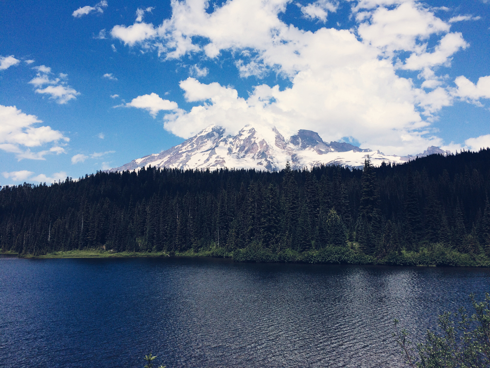 Reflective Lake, Mt Rainier (which wasn't very reflective when we got there!).