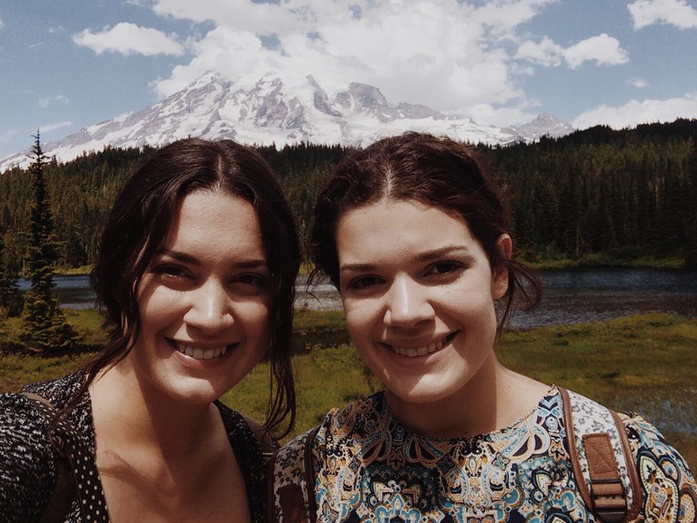 My sister and I at Reflective Lake.