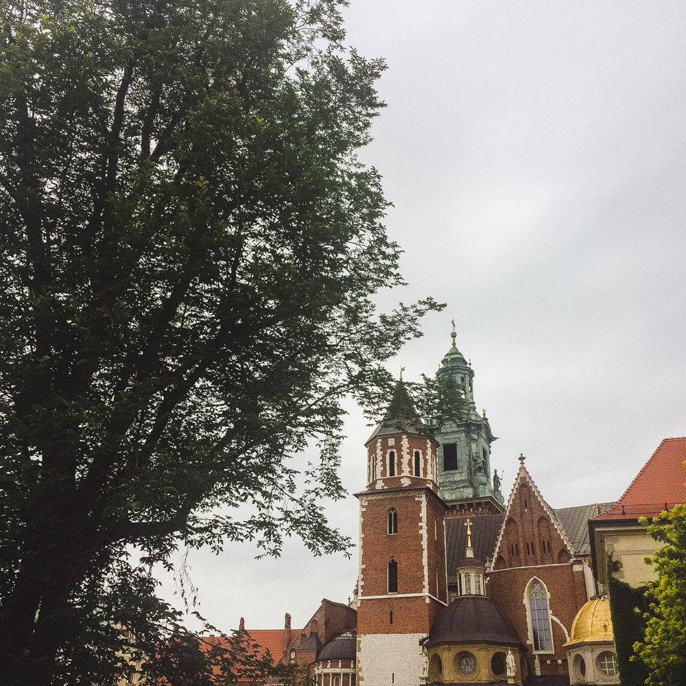 Exploring the beautiful Wawel Castle.