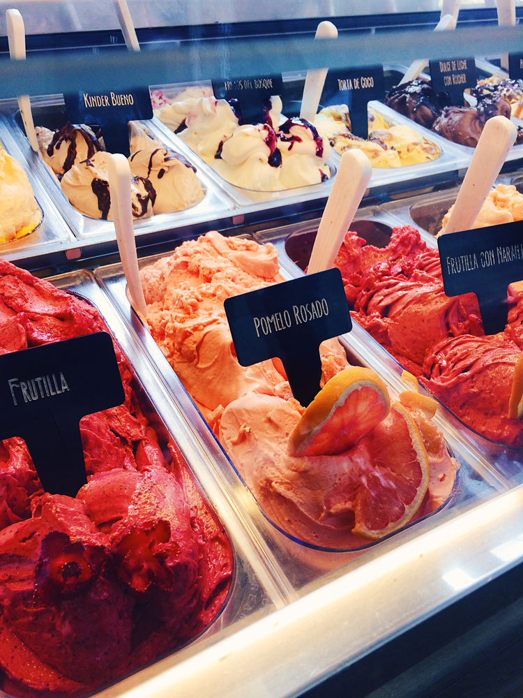 Sooo many delicious ice creams to choose from in Argentina!