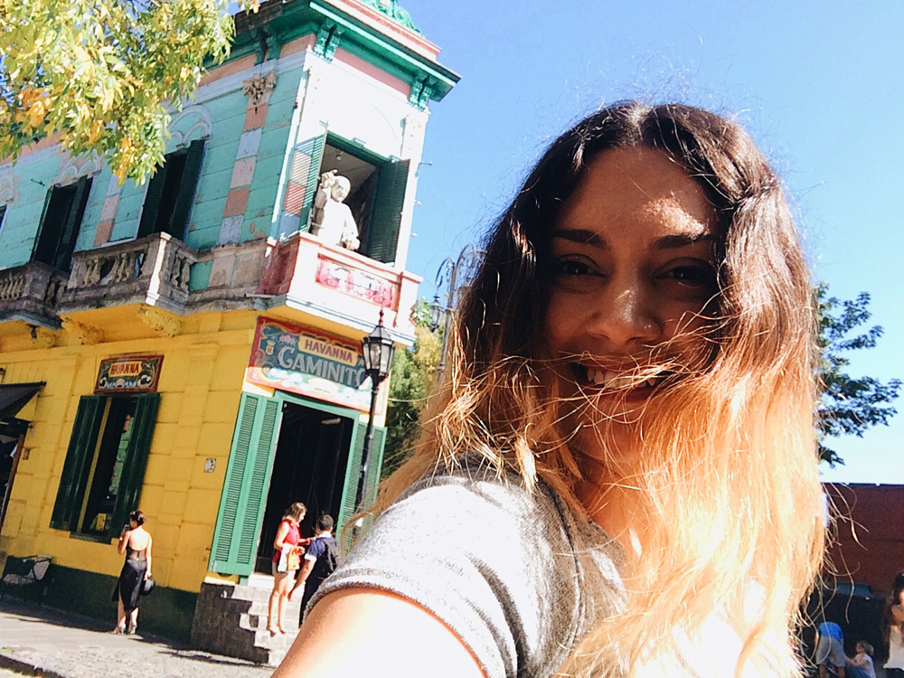 Walking around El Caminito in La Boca.