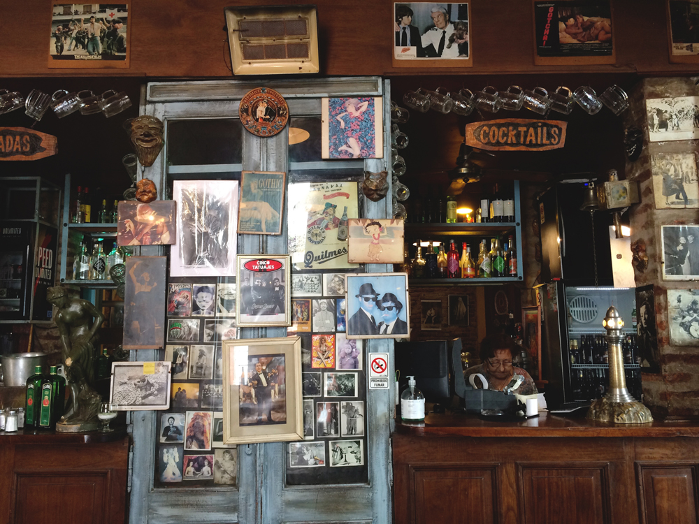 Eating lunch in San Telmo, Buenos Aires.