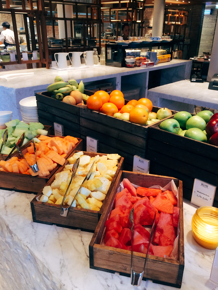 Lots of fresh fruit to choose from at the breakfast buffet at the Viceroy.