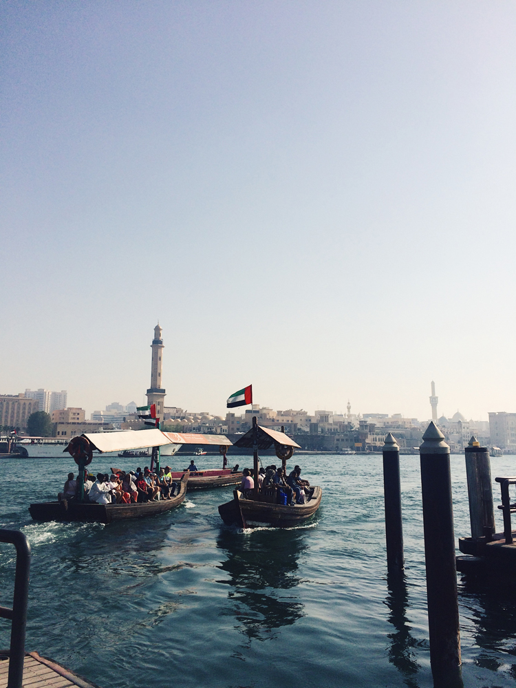 We had a private boat taxi take us to the markets in Old Dubai!