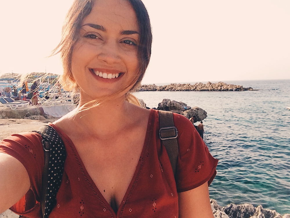 Selfies in Anfeh, a little beach town on the water painted white and blue. A little slice of Greece in Lebanon.