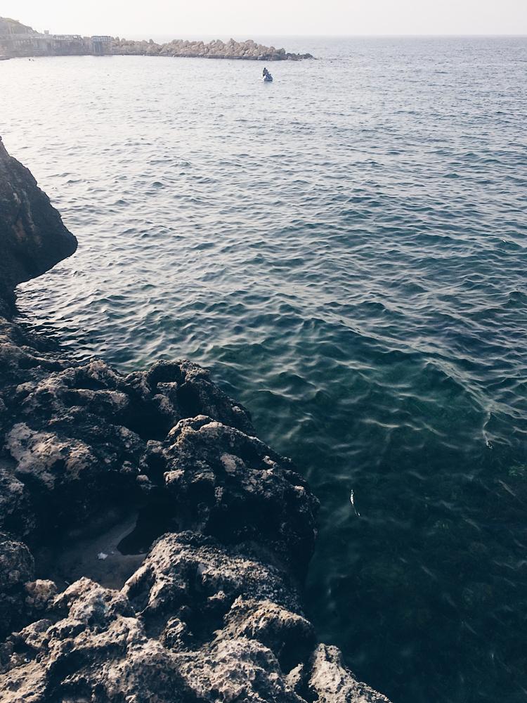 Dipping my feet in the Mediterranean Sea