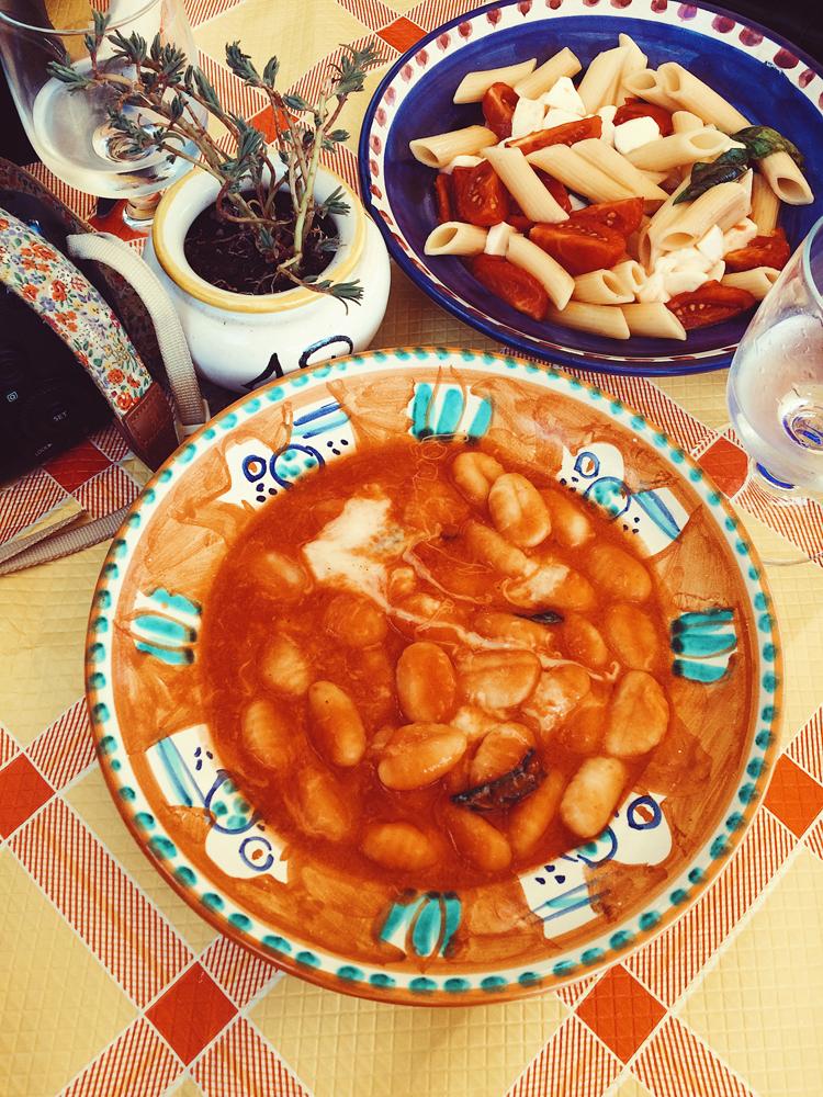 Lunch in Positano - gnocchi.