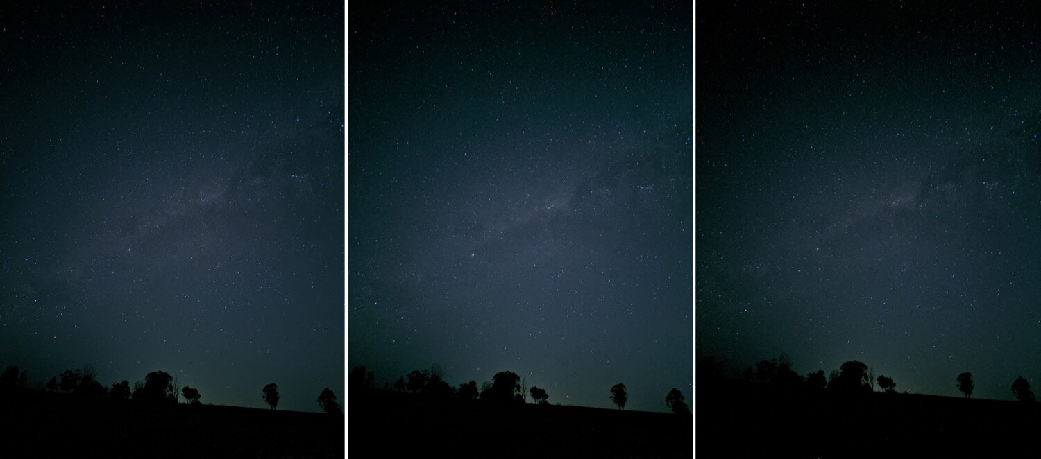 Night sight + Astrophotography Mode - 4 minute exposure / 2 minutes / 1 minute (Download the high resolution files to be able to take a better look at these! Link at the beginning of this blog post)