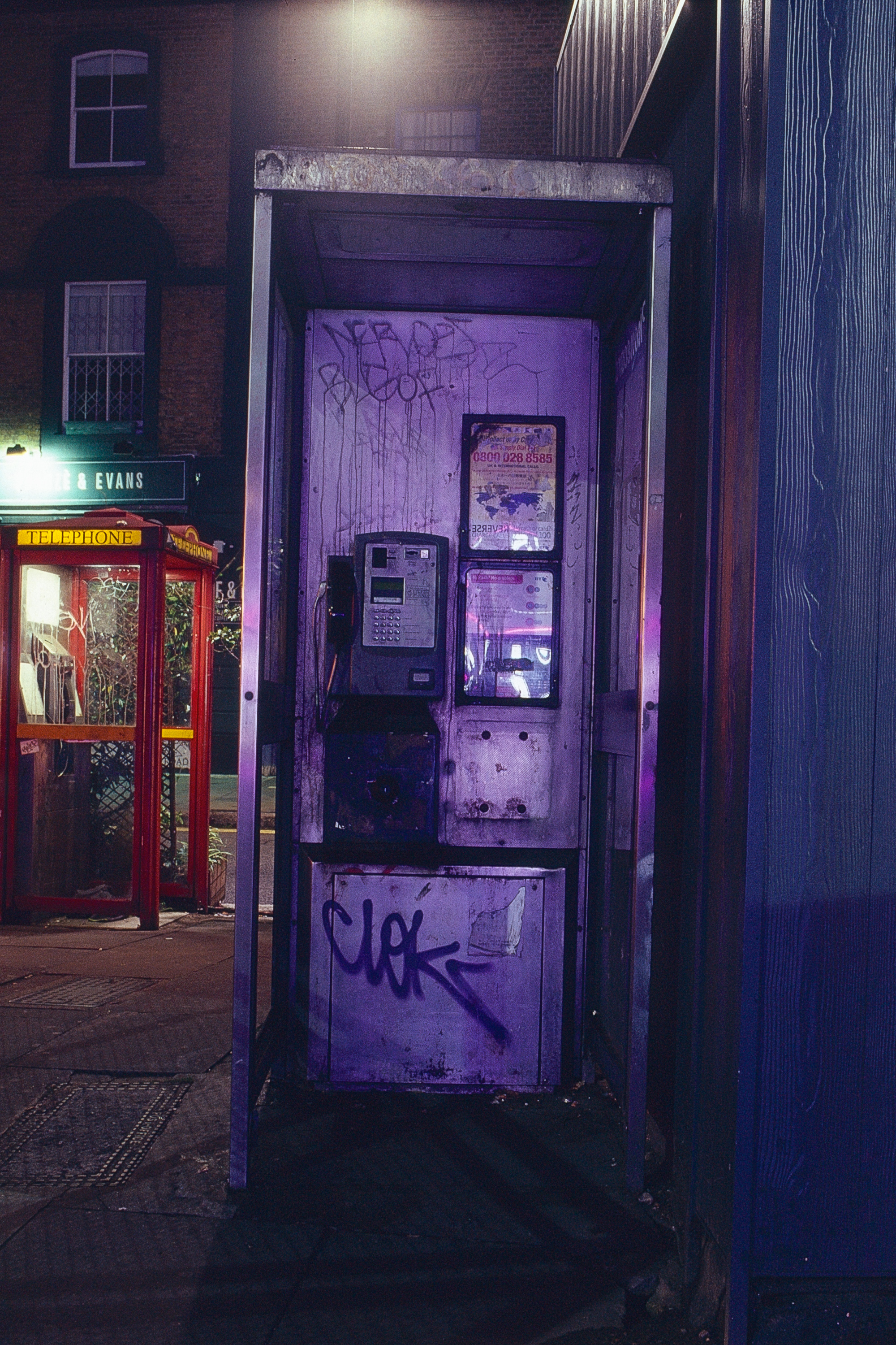 A study of phone boxes on bethnal green road  creative by james preston