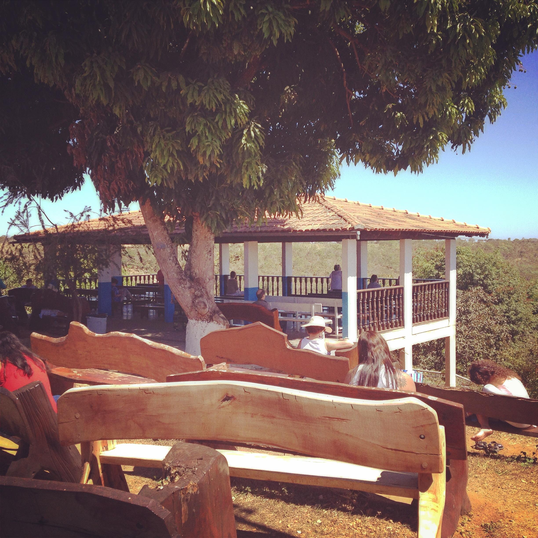La terrazza dove si può andare a meditare, anche dopo le sessioni alla Casa.