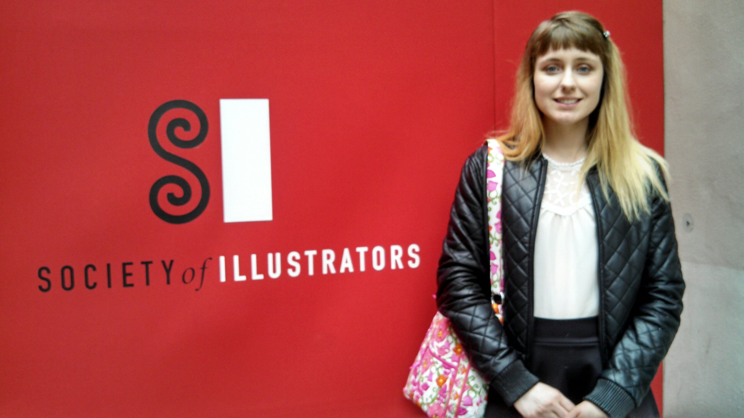 Me at the Society of Illustrators opening reception for the Student Gallery Competition!