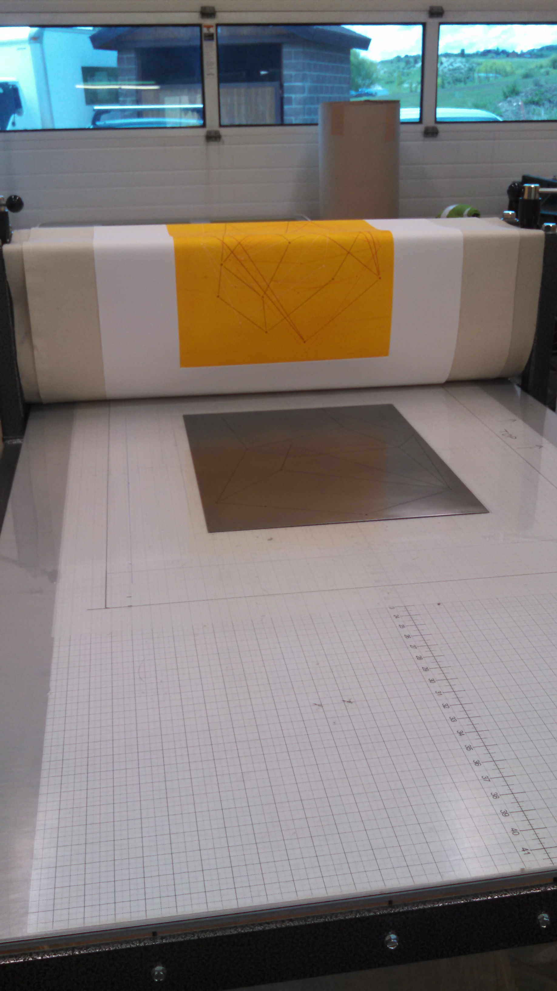 About to print the 4th plate.