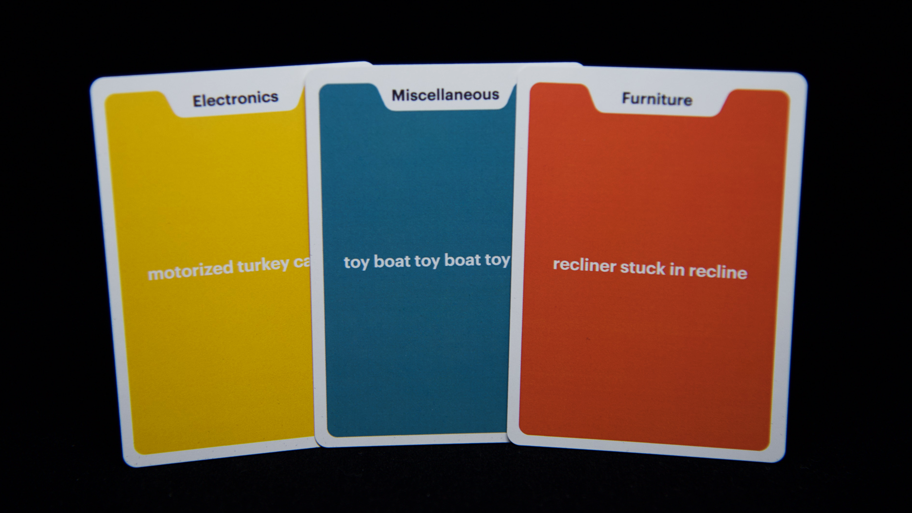 A selection of item cards.