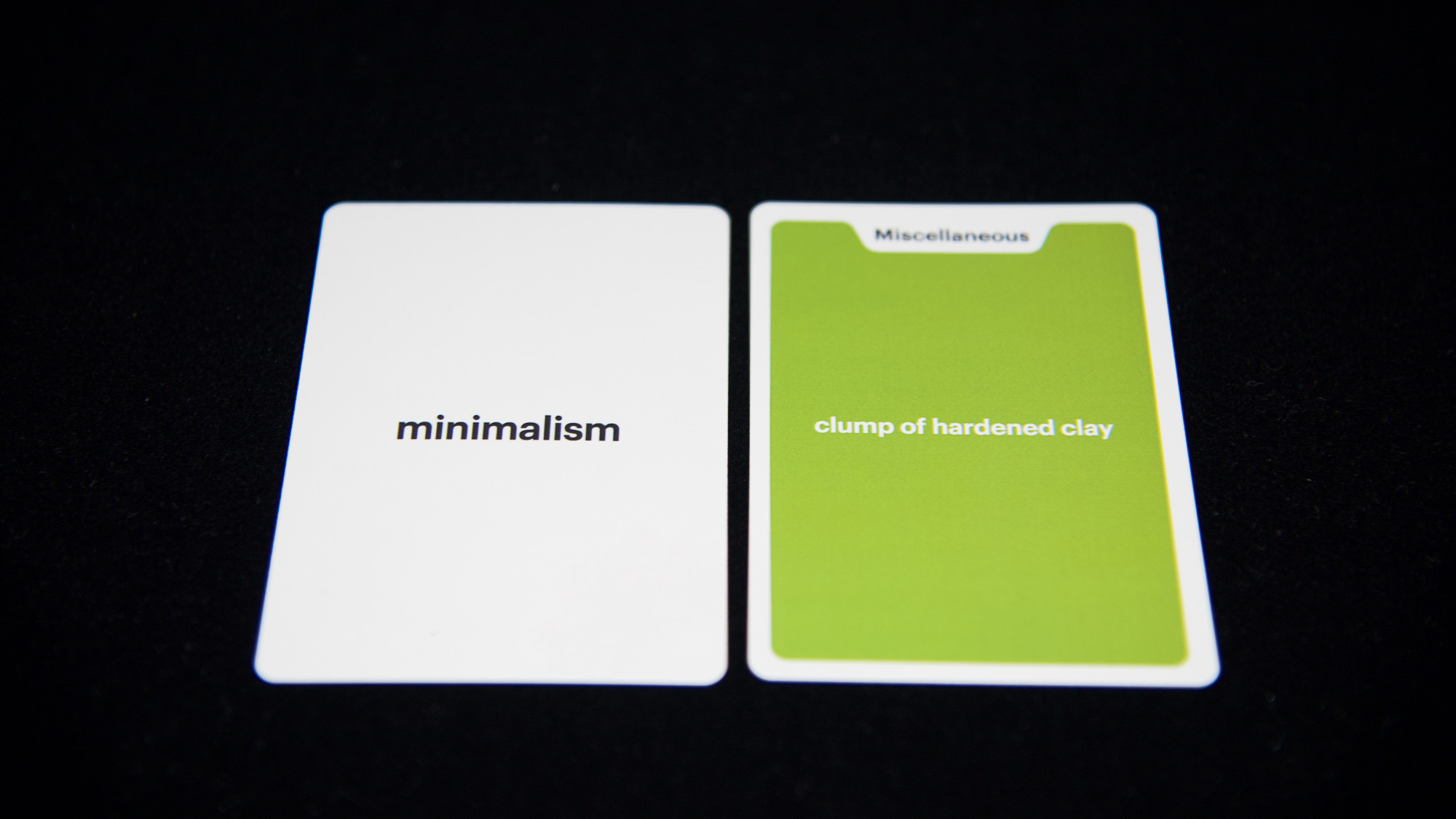 A front and back view of a card.