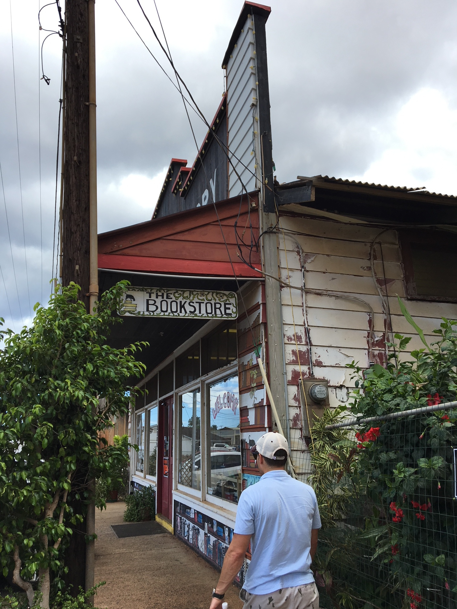 Another perfect little bookstore on Kauai - the furthest west bookstore in the US! They had an adorable kitty, too