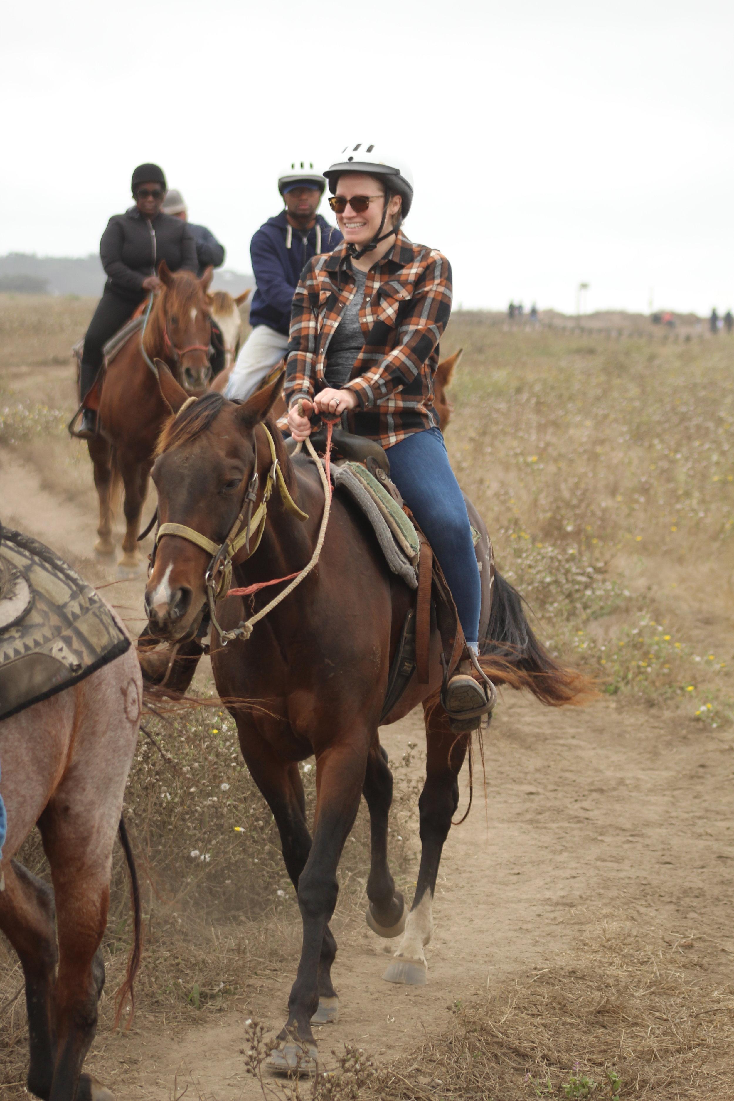 Horseback riding in Half Moon Bay