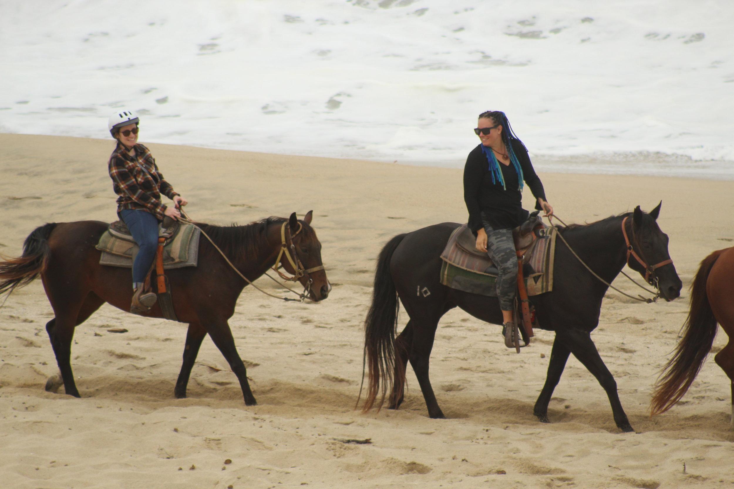 Horseback riding in Half Moon Bay with my friend Jocelyn