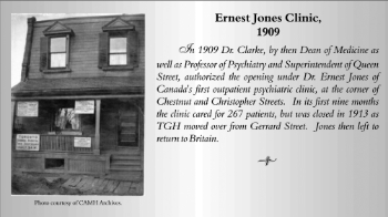Dr Clarke also called his clinic after Ernest Jones, the first director.  Photo courtesy of CAMH archives.