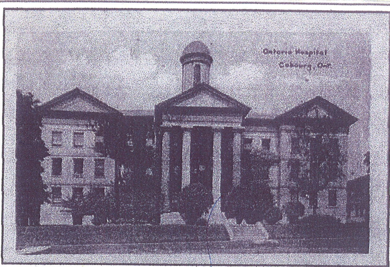 Cobourg Asylum, early 1900s. Photo courtesy of Archives of Ontario.