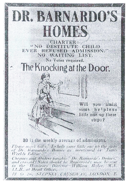 Pamphlet for Dr Bernardo's Homes. Wikipedia.