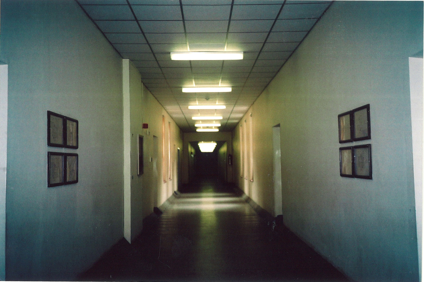 Entrance Hallway:  Once inside, child and parent alike entered a small vestibule where parents met with staff and said goodbye. Before the child a long corridor stretched away. Photo: Thelma Wheatley.