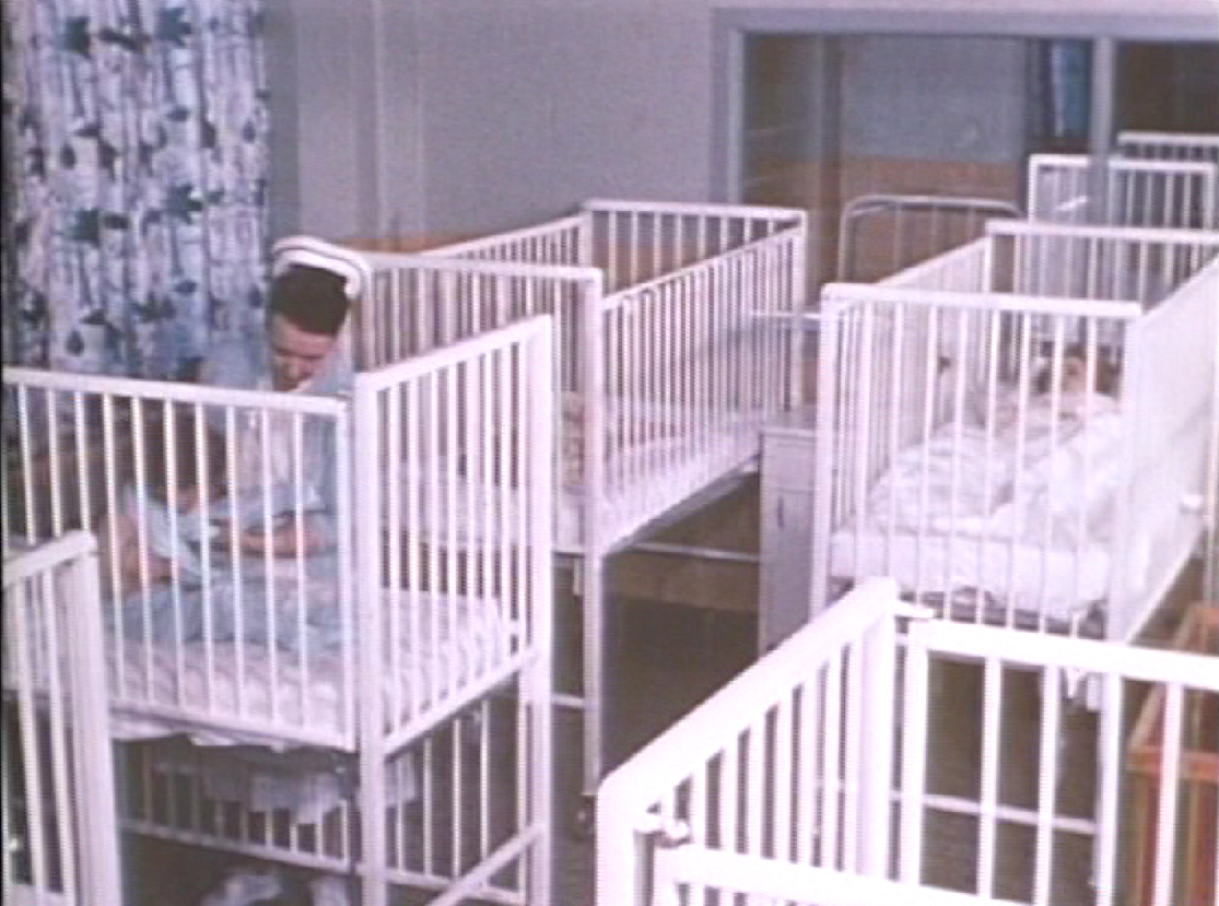 Cots in Children's Dormitory 1960. Photo courtesy Archives of Ontario.