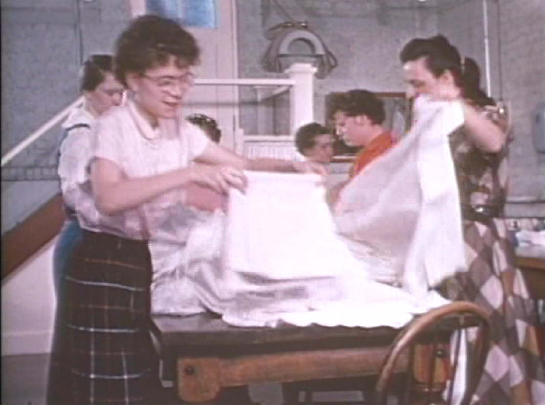 Girls in laundry. Photo courtesy Archives of Ontario.