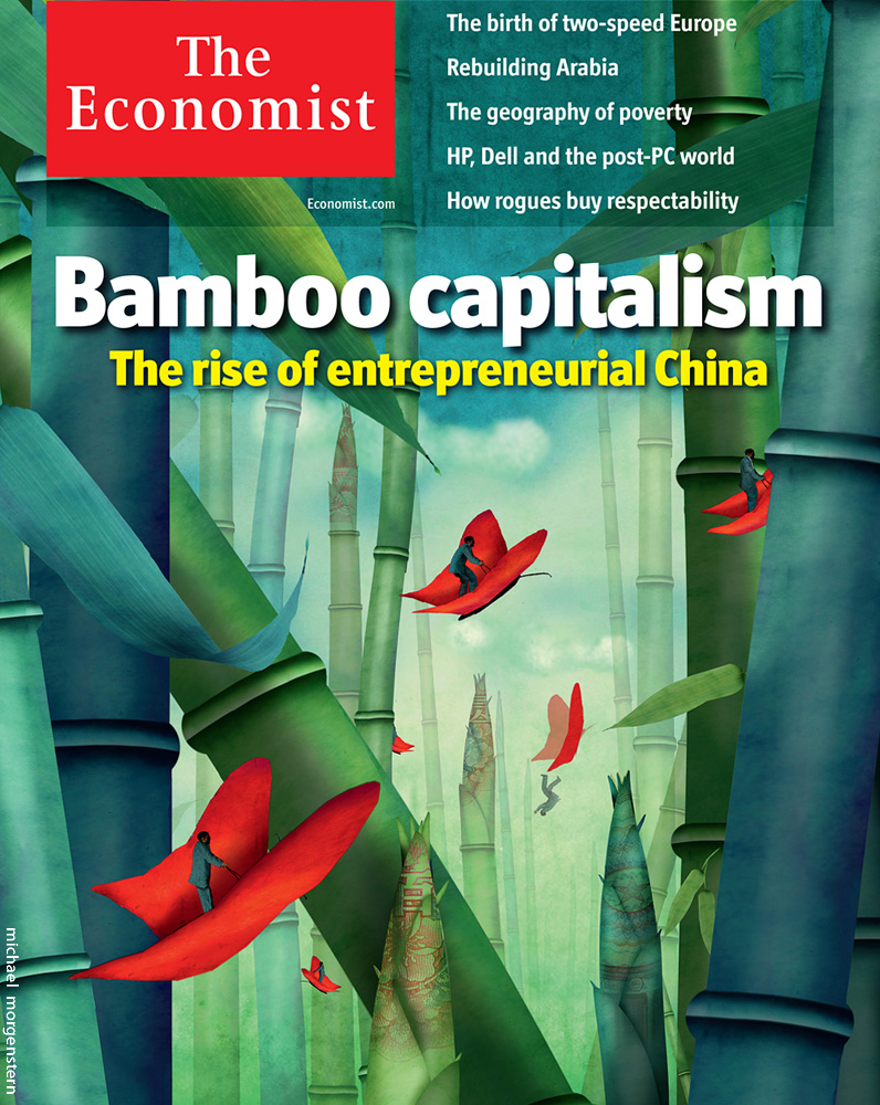 """Bamboo Capitalism"" - The rise of enterpreneurial China -  Economist cover"