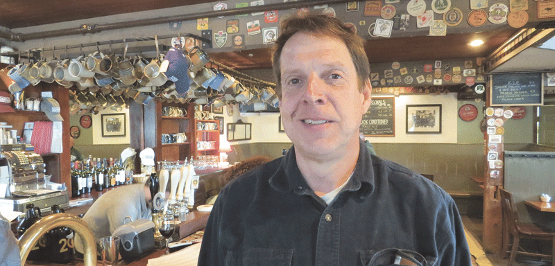 Andrew Mankin, owner and brewer, says a 'green' operating philosophy has helped Barrington Brewery & Restaurant create a strong brand.