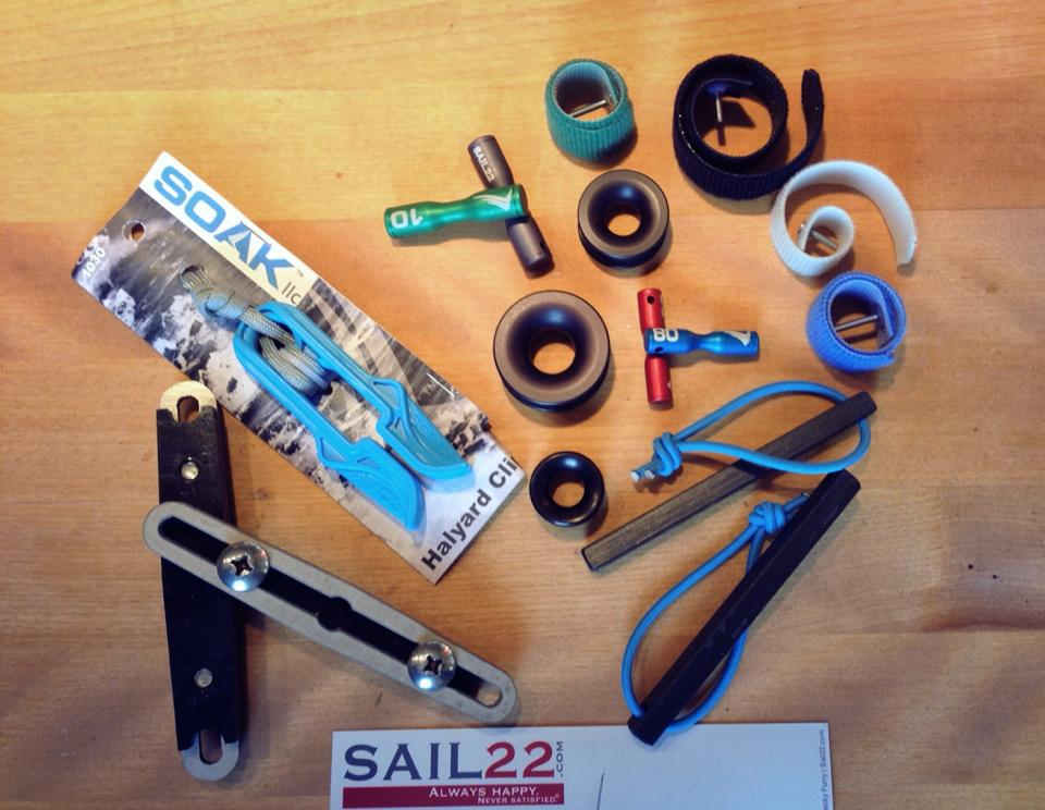 Sail22 Goodies - Soak Halyard Clip - Dog Bones - Scar Pins - Third Hands - Ferrules - Rig Locks