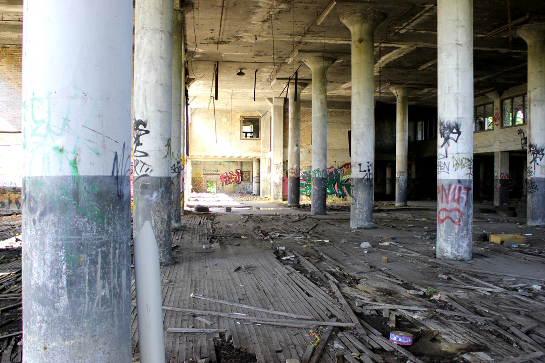 Abandoned glass factory, Rosa Parks Blvd.