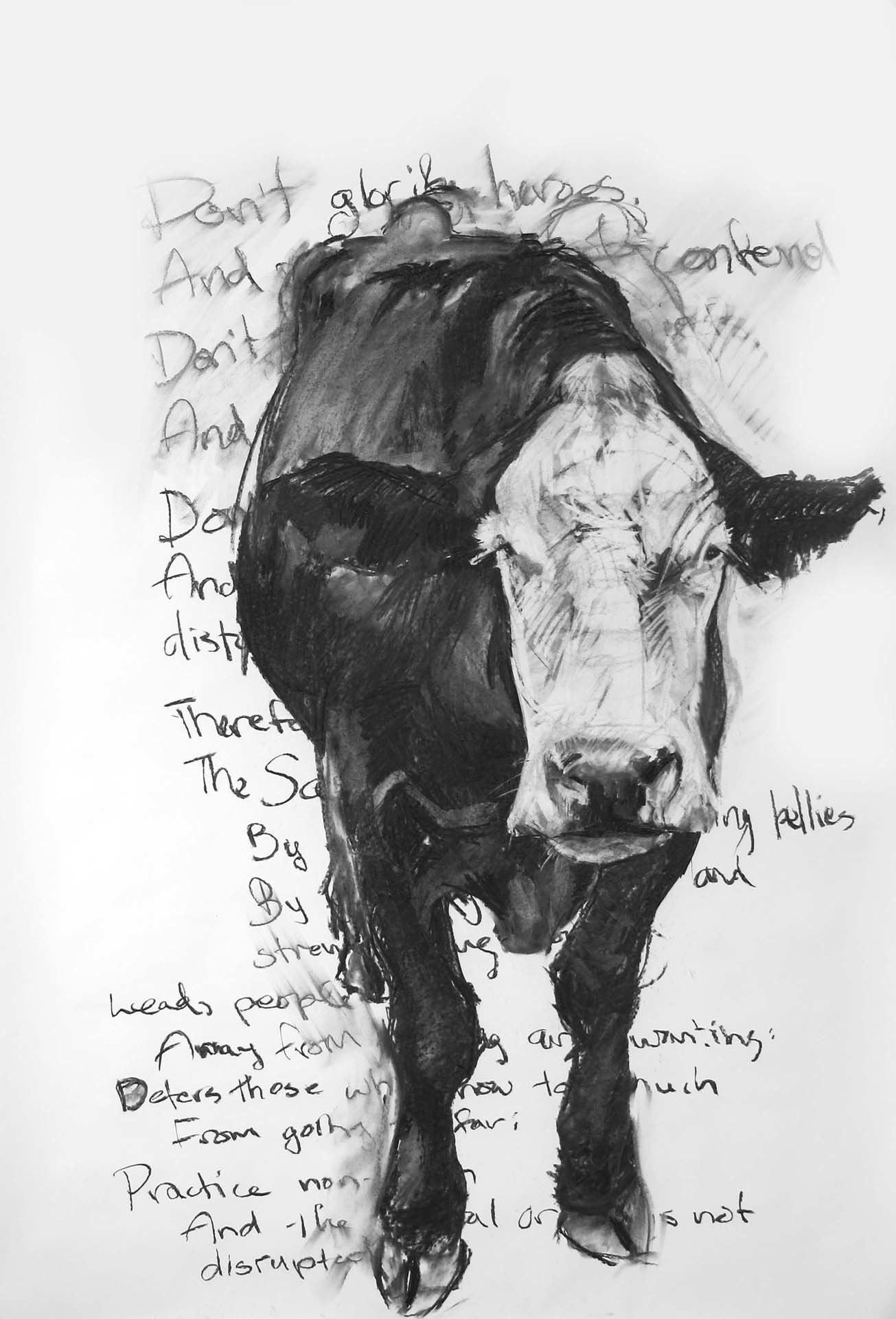 Ling, 60x42 inches, Charcoal on Paper, 2010