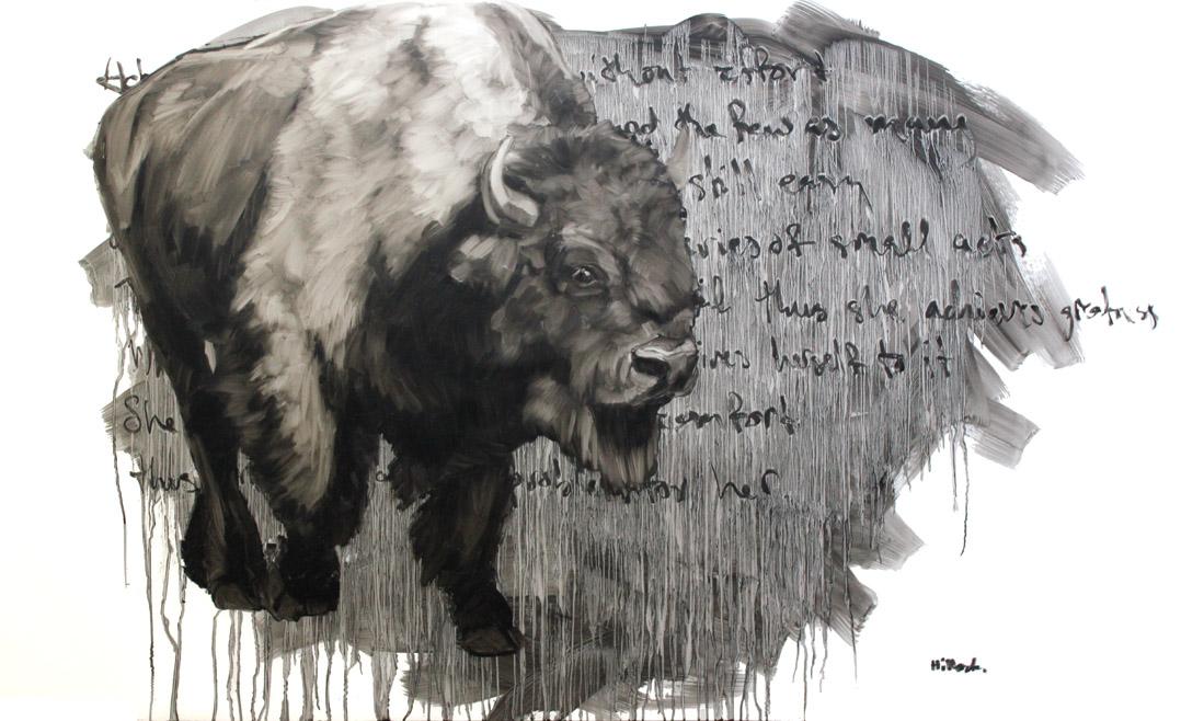 Thomas, Oil on Mylar, 58x 36 Inches