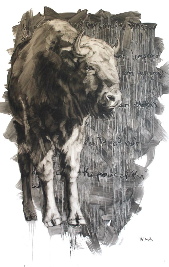 Joanna, Oil on Mylar, 58x36 Inches