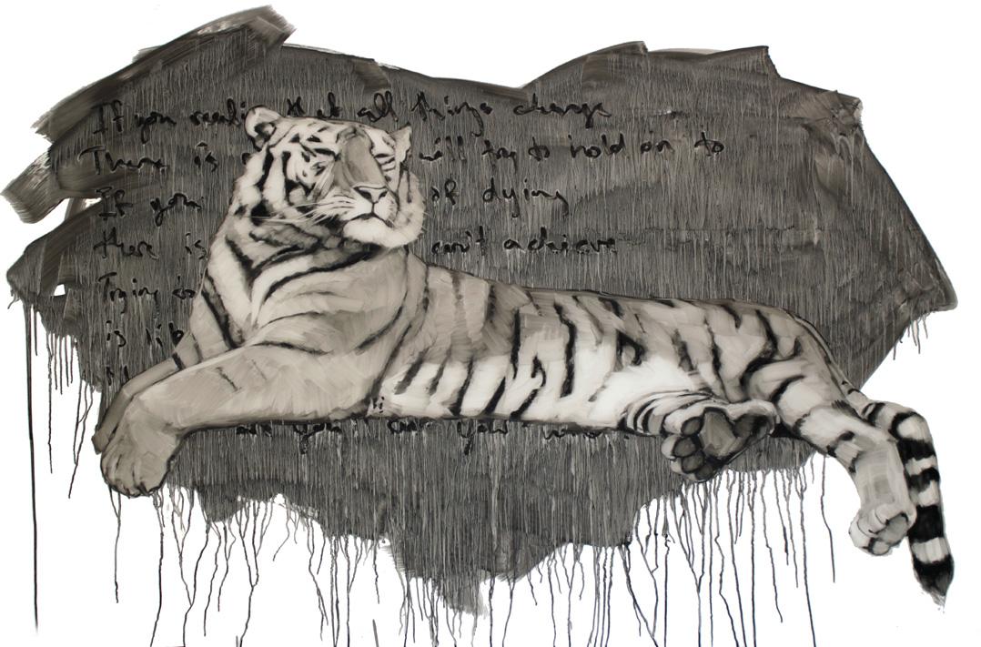 Carl, Oil on Mylar, 36x58 inches