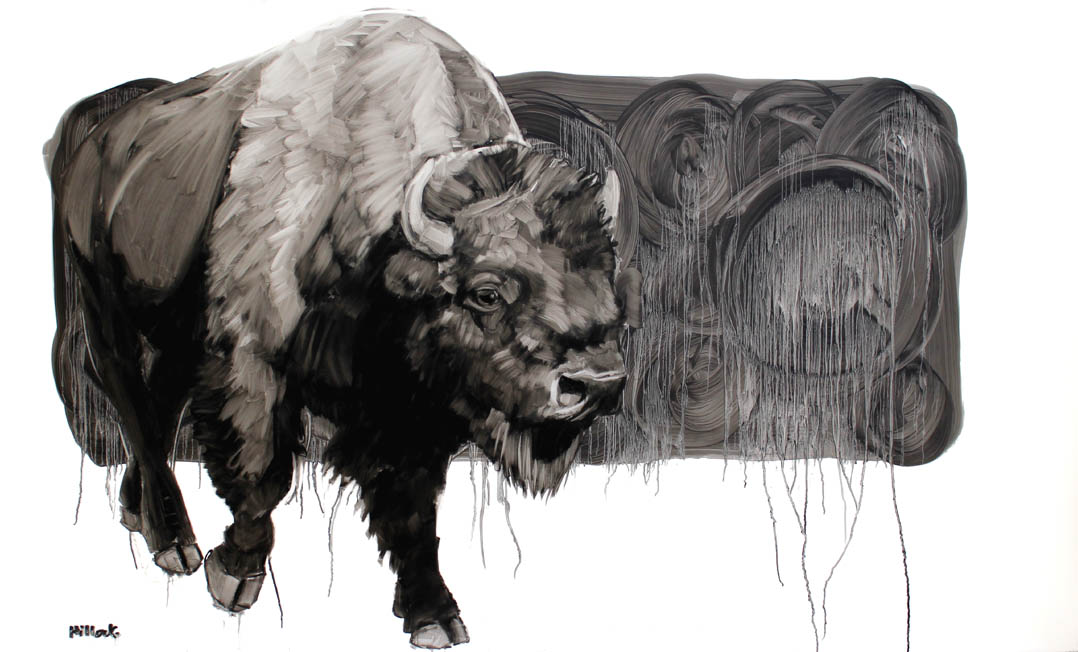 Emmett, Oil on Mylar, 36x58 inches
