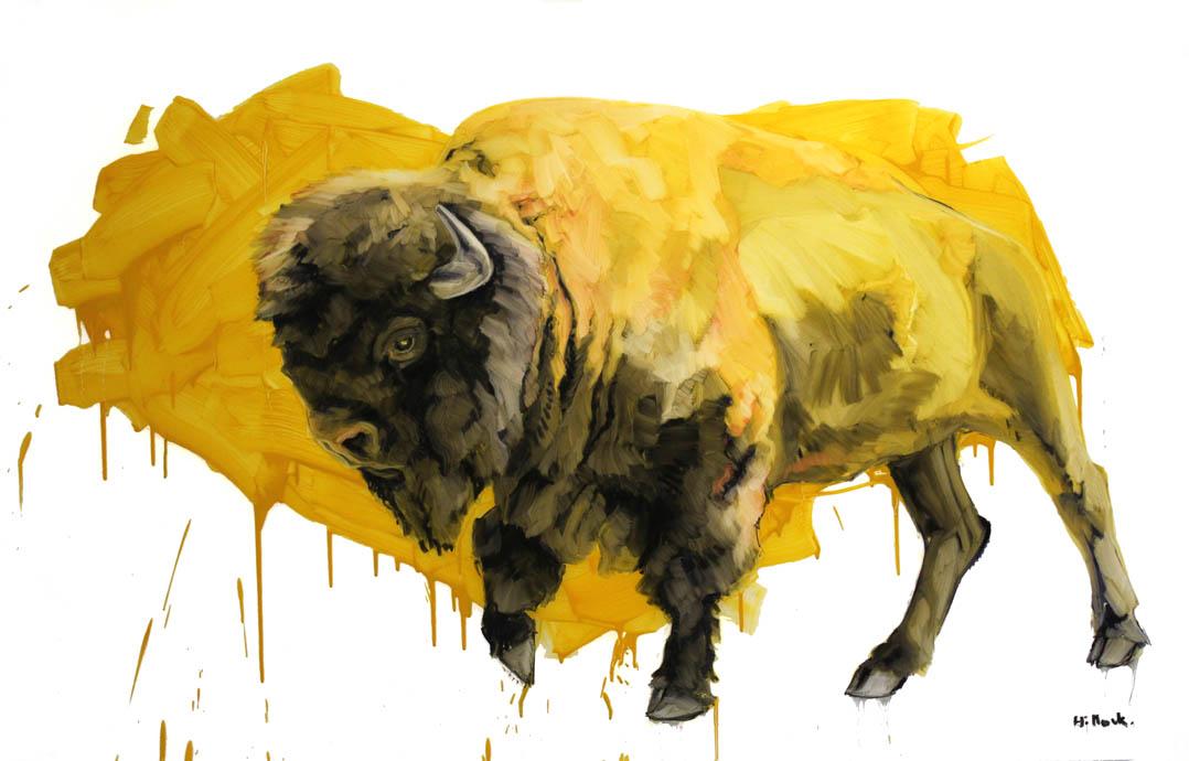 Kenneth, oil on mylar, 58x36 inches