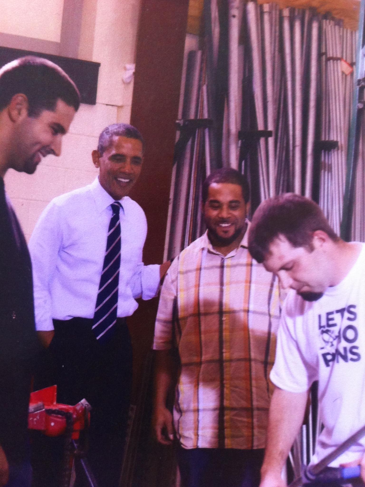 My nephew with Obama