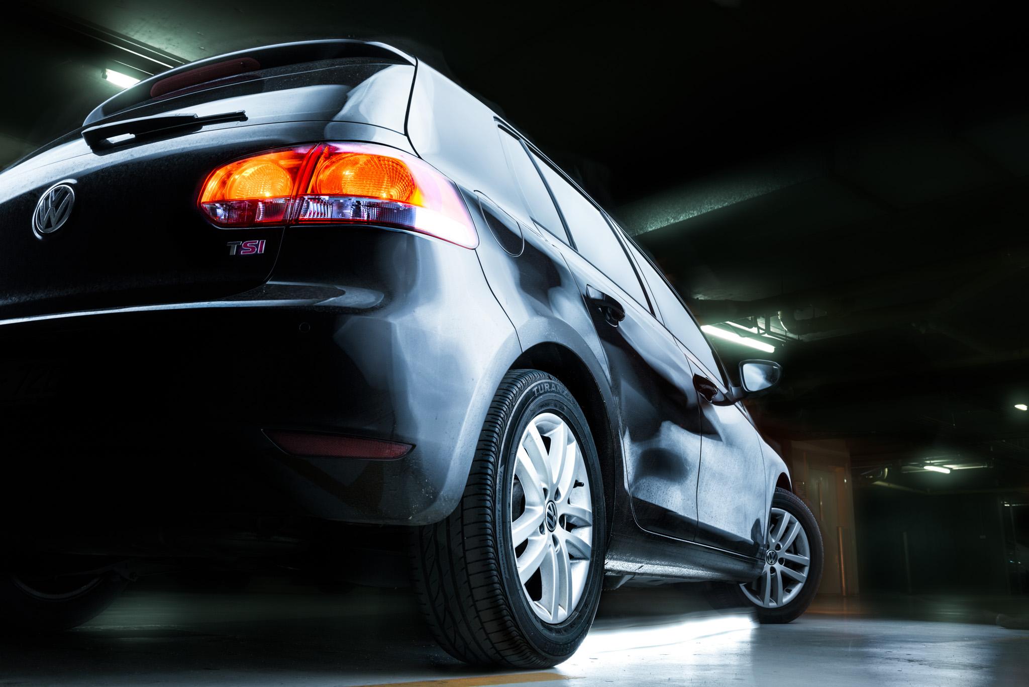 Light Painting - Volkswagen Golf Mk6 black