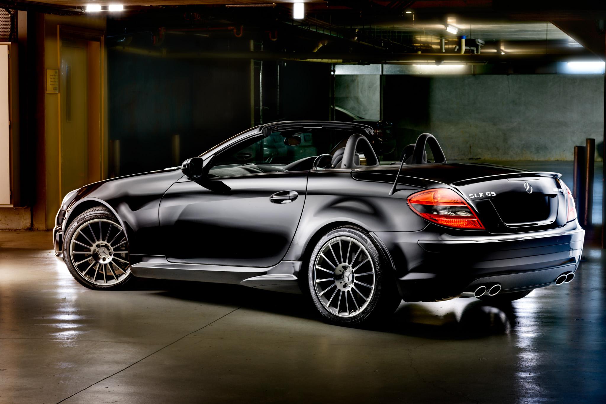 Light Painting - Mercedes SLK 55 AMG black
