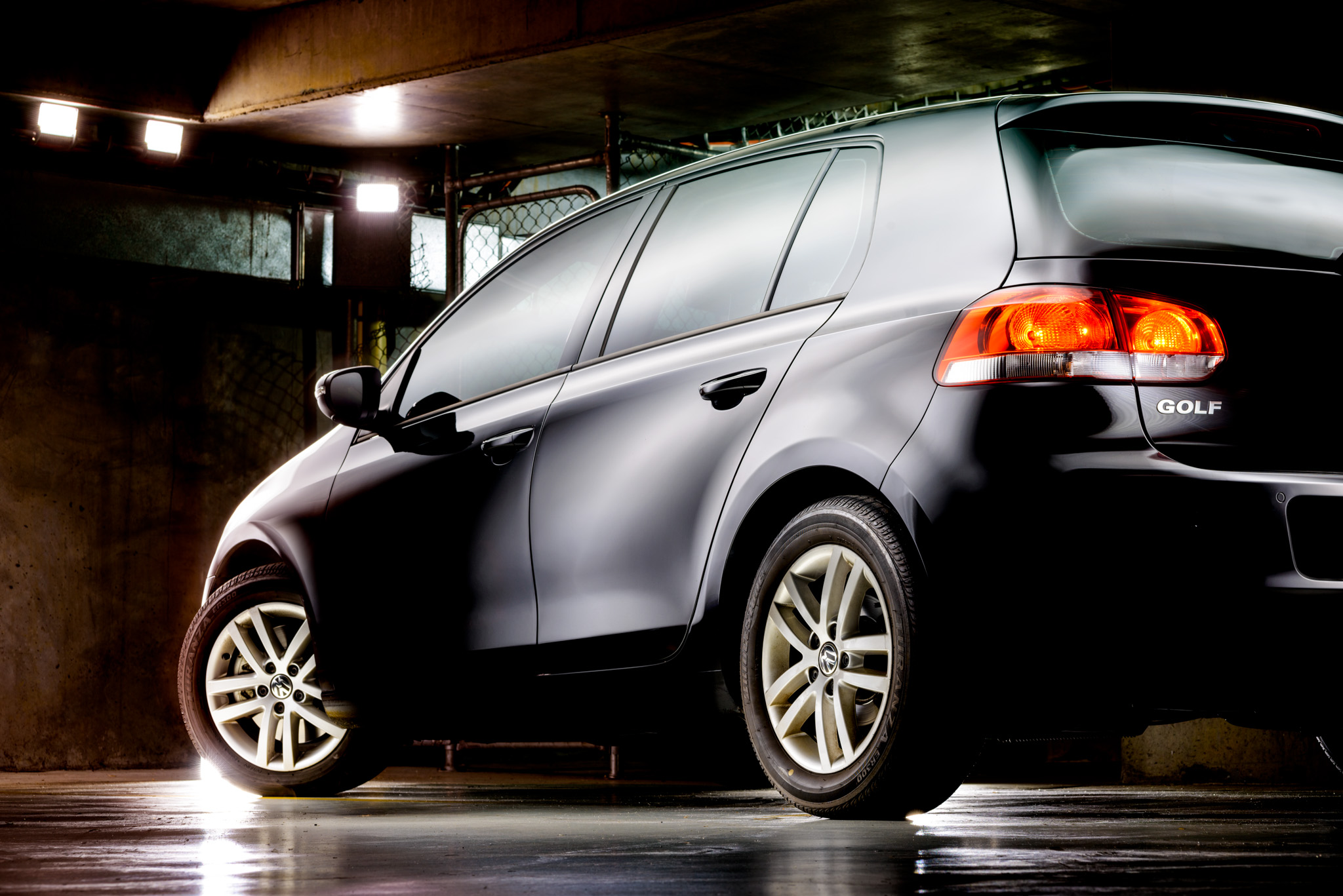 Light Painting - Light Painting - Volkswagen Golf Mk6 black