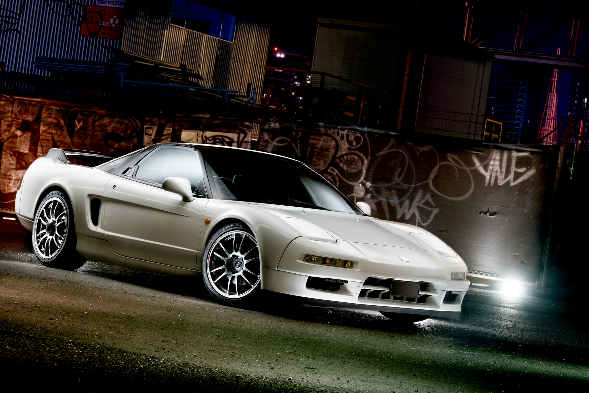 Light Painting - Honda NSX white