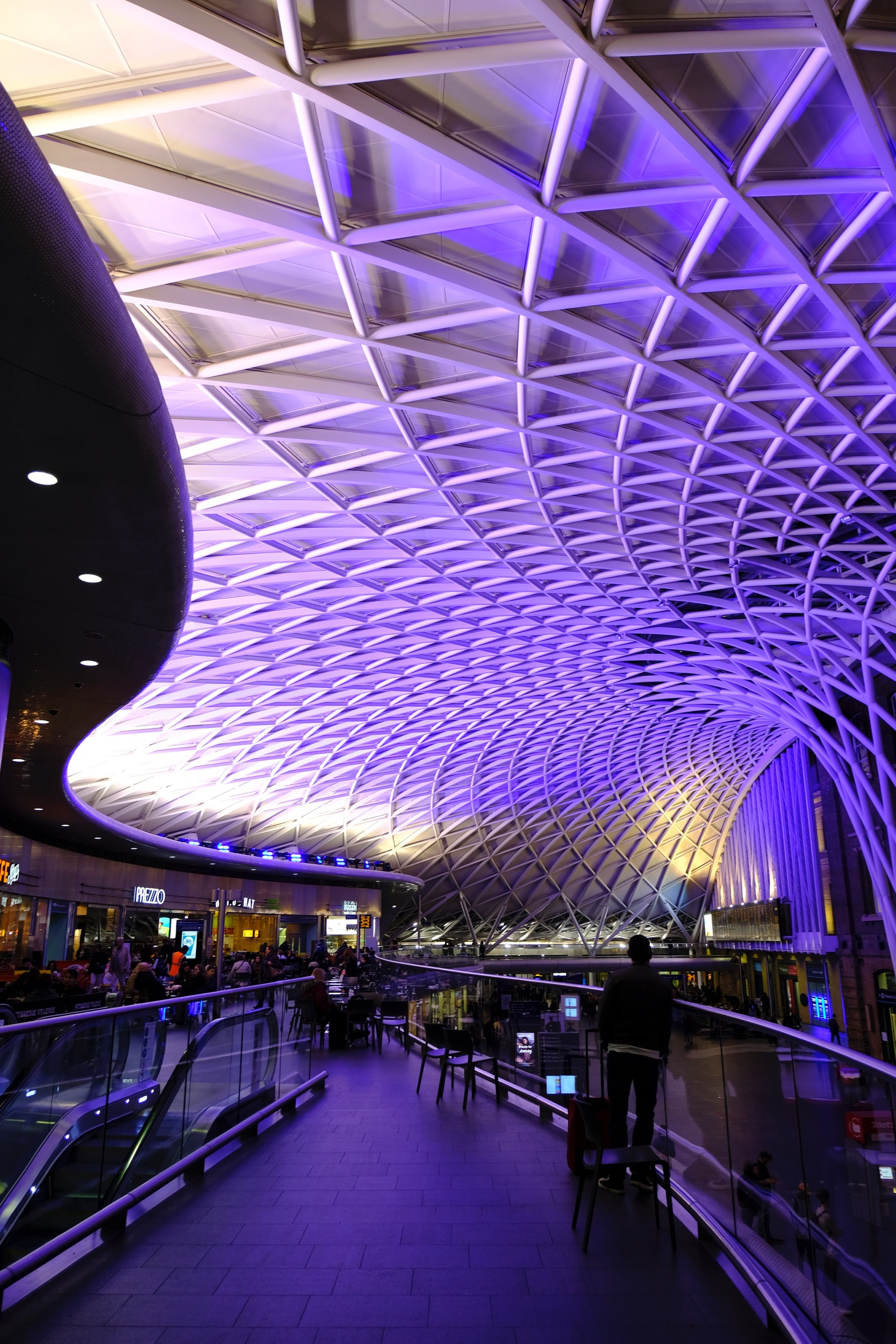 The always interesting King's Cross Station roof