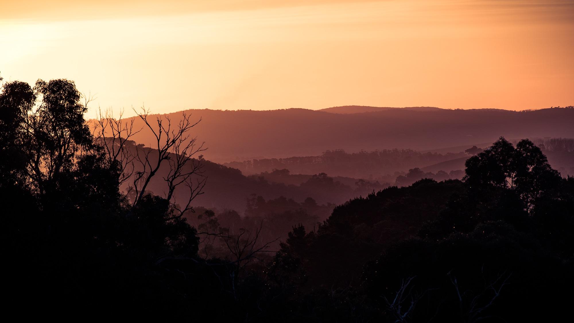 Sundown in the mountains