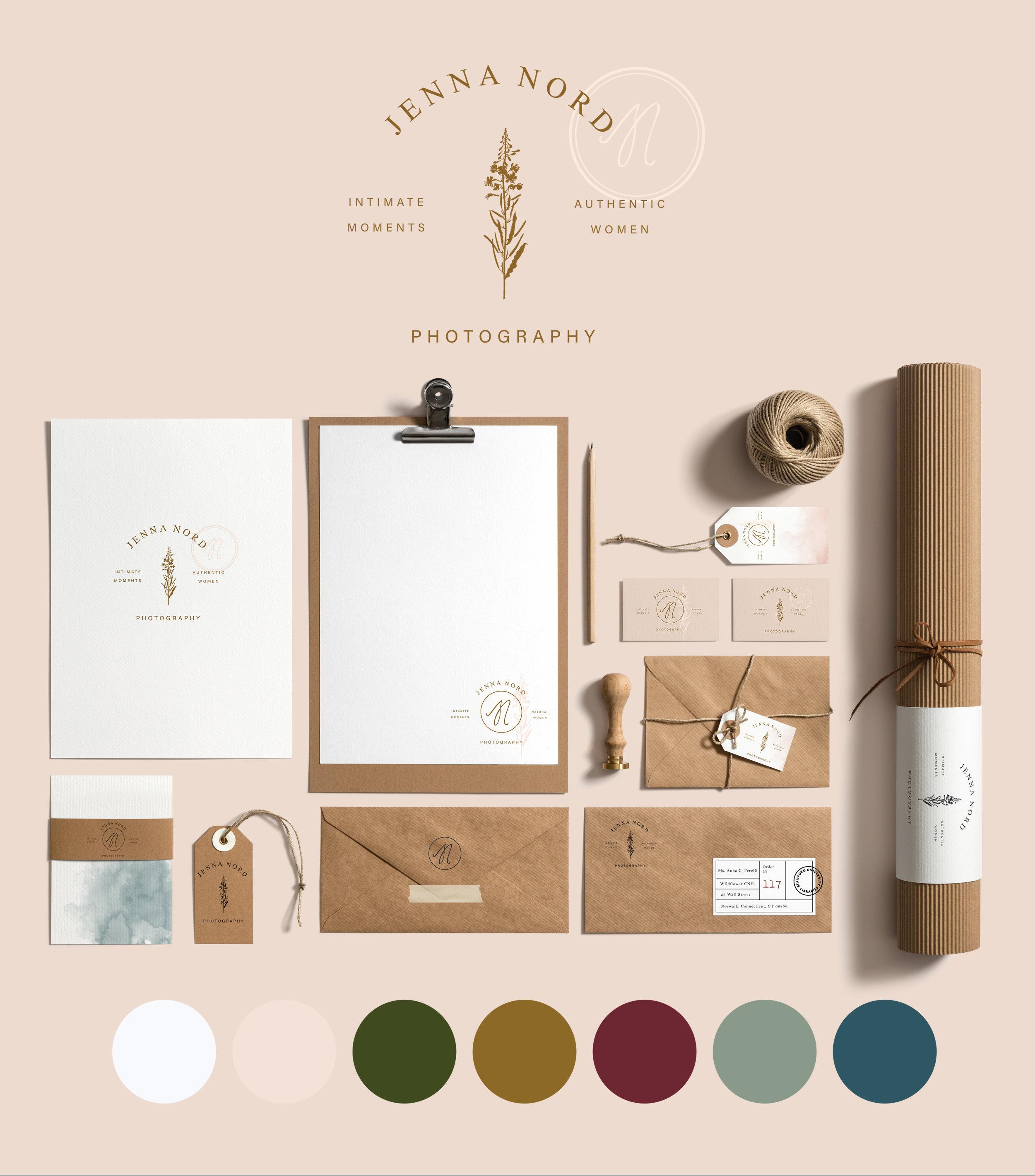 Jenna Nord Photography Branding + Identity Suite