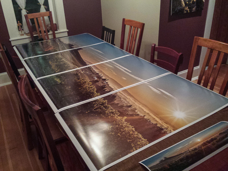 Drying the fresh prints. It is always best to allow prints to cure for around 24 hours. (Click to Enlarge)