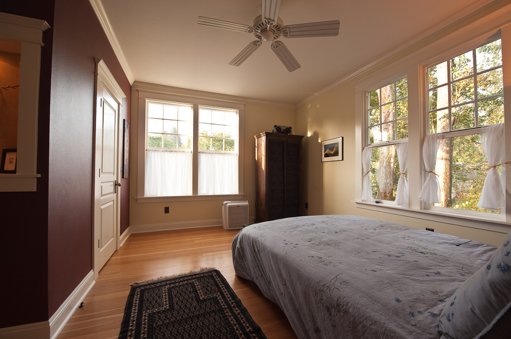 The remodeled master bedroom with new walk-in closet.